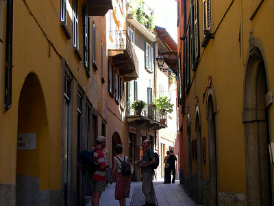 One of the steep, narrow streets that characterize Bellagio
