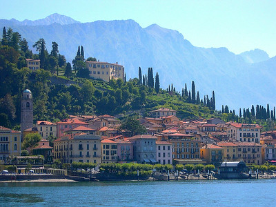 The town of Bellagio, located where the two forks of the lake come together