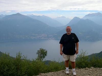 Monte Bregno, hiking on the trail to Refugio Menaggio (looking East towards Bellano)