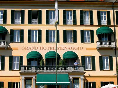 The Grand Hotel Menaggio (1824) on the western shore of Lago di Como