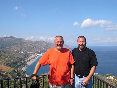 Ed (left) and Joe (right) in Taormina.