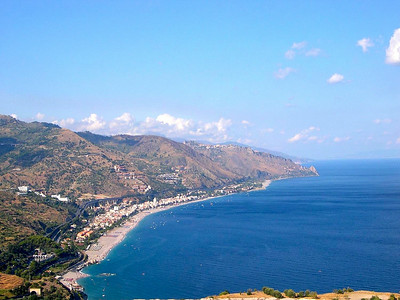 The western coastline of Sicilia, on our way from Taormina down to Aci Castello, just north of the major city of Catania.