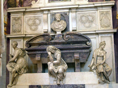 Michelangelo's tomb inside of Santa Croce (Firenze was his home).