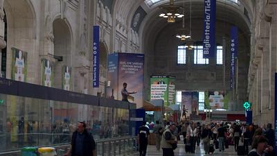 Inside the main train station (La Stazione Centrale) in Florence