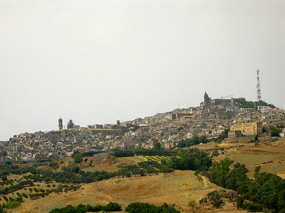 The town of Caltagirone in southern Sicilia, world-famous for its ceramics. Specifically, colorful majolica tiles.