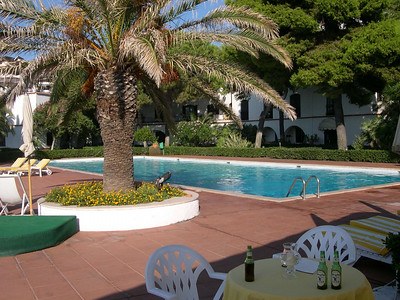 Hotel Baia Verde -- huge pool, huge pool deck, comfortable lounge chairs and umbrella, an outdoor bar, the crystal clear Mediterranean, stairs and ladders to help you navigate the lava to get the the ocean -- what's not to like!