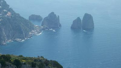The famous Faraglioni rocks.