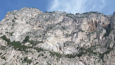 More rocky coastline around Capri.