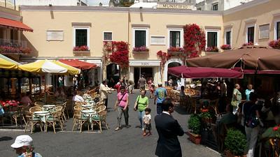 Piazza Umberto in Capri - prime spot for people-watching.