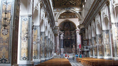 Inside the Duomo, a clear reminder of the prominence of Amalfi until a devastating earthquake in 1343.