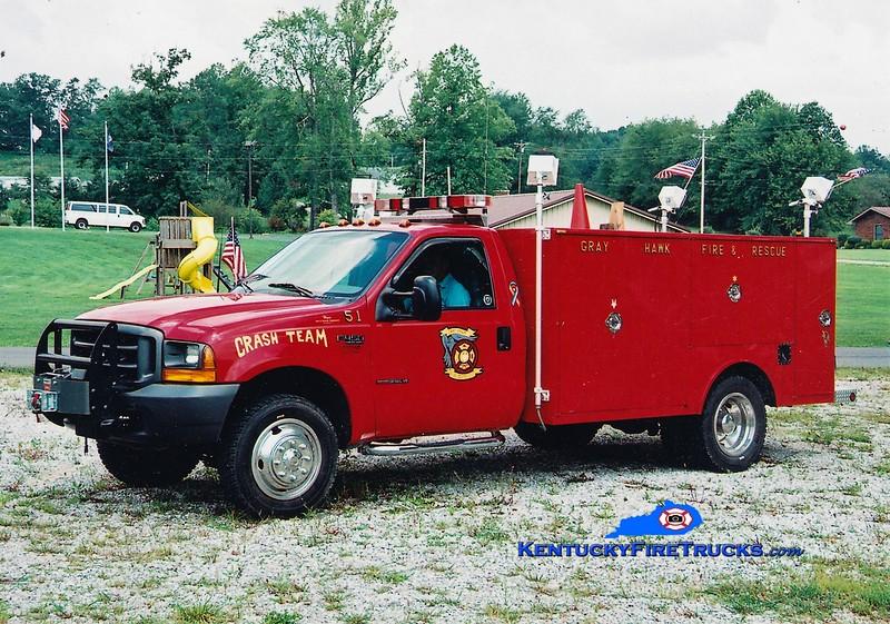 RETIRED <br /> Gray Hawk  Rescue 551<br /> 2000 Ford F-350 4x4/Wynn 250/250<br /> Greg Stapleton photo
