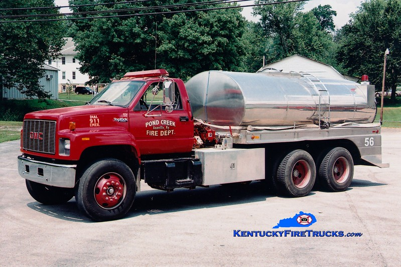 <center> Pond Creek  Tanker 2  <br> 1996 GMC/Bluegrass/Wynn 250/2500  <br> Greg Stapleton photo </center>
