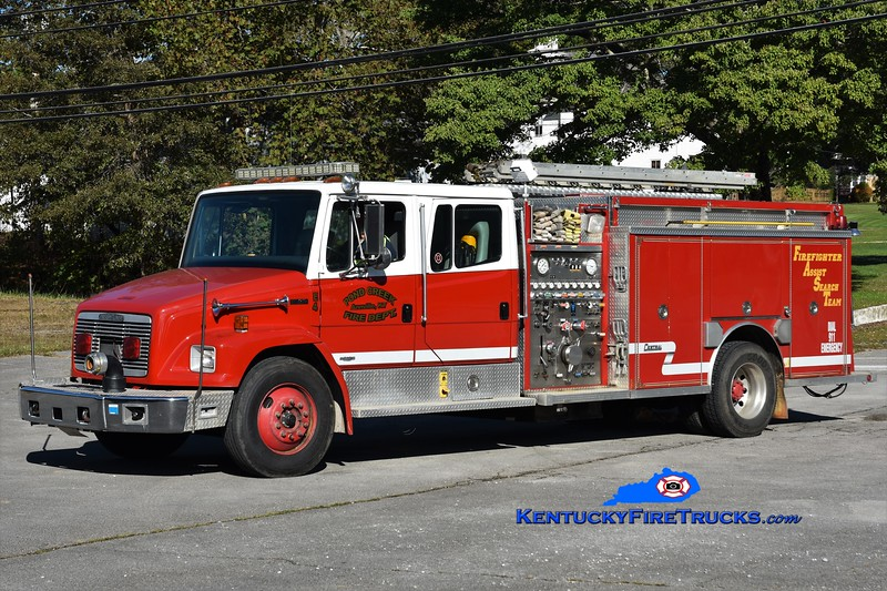 Pond Creek  Engine 4<br /> x-Gloversville, NY<br /> 1994 Freightliner FL80/Central States 1500/1000<br /> Greg Stapleton photo