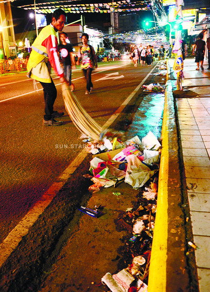 Cebu City street cleaners after Sinulog