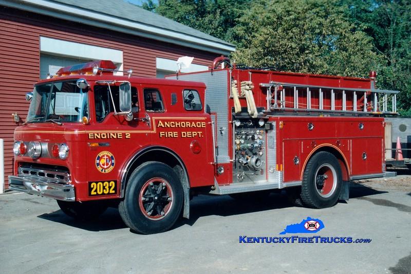 <center> RETIRED <br> Anchorage  Engine 2032 <br> 1985 Ford C-8000/Indiana 1250/650  <br> Greg Stapleton photo </center>