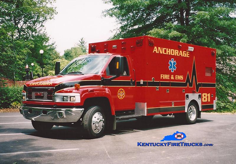 RETIRED <br /> Anchorage Medic 2281<br /> 2003 GMC C5500/Frazer <br /> Kent Parrish photo