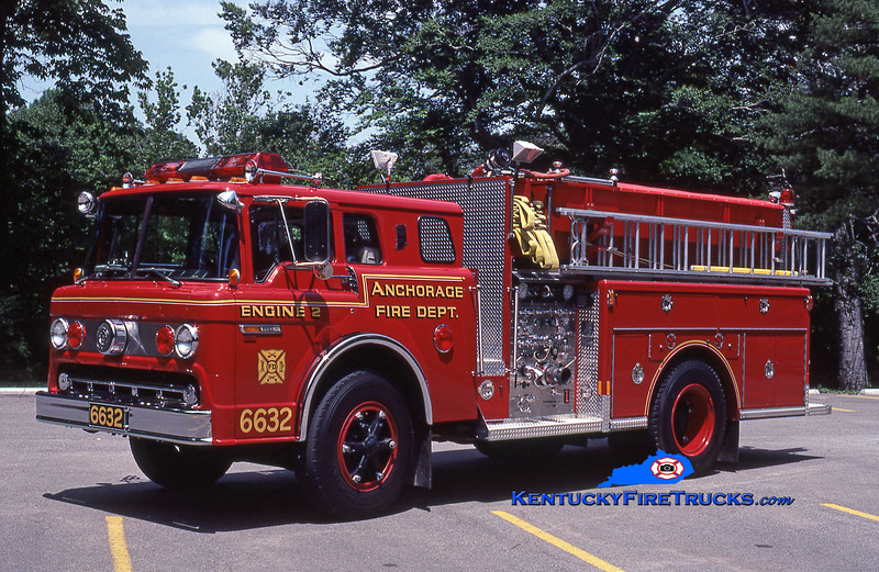 RETIRED<br /> Anchorage Engine 2032<br /> 1985 Ford C-8000/Indiana 1250/650<br /> Kent Parrish collection