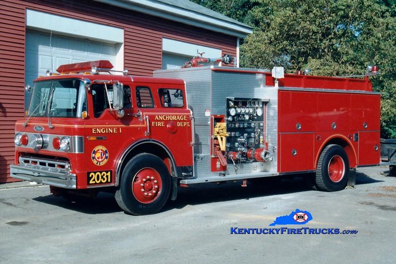 <center> RETIRED <br> Anchorage  Engine 2031 <br> 1991 Ford C-8000/Pierce 1250/500/Quad  <br> Greg Stapleton photo </center>