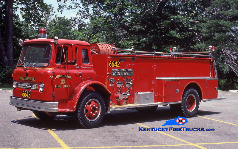 RETIRED <br /> Anchorage Quad 6642 <br /> 1963 International Loadstar/Boyer 750/350<br /> Kent Parrish collection