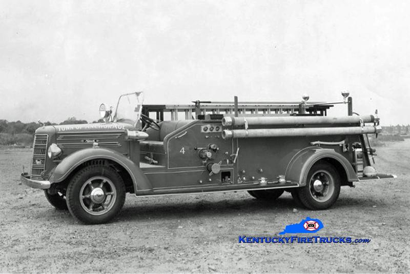 RETIRED<br /> Anchorage Engine 4 <br /> 1941 Mack 500/150 <br /> Kent Parrish collection