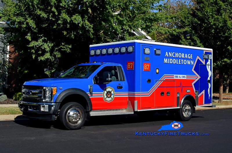 RESERVE  <br /> Anchorage Middletown Med 9987<br /> x-Harrods Creek<br /> 2017 Ford F-450 4x4/Medix<br /> Kent Parrish photo