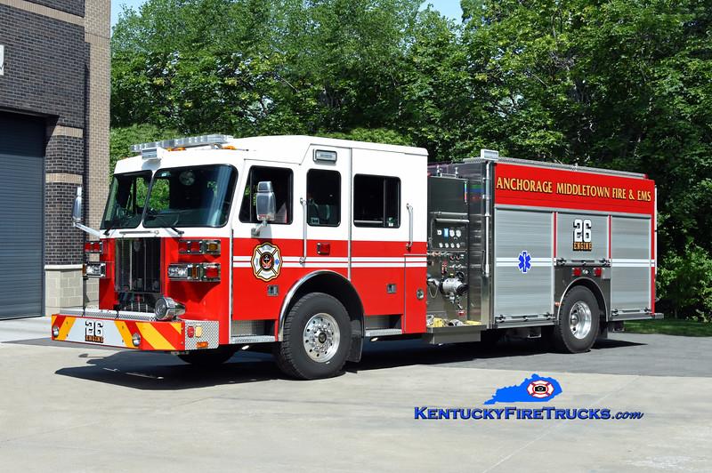 Anchorage Middletown Engine 9926 (at St Matthews St. 2) <br /> x-Harrods Creek <br /> 2016 Sutphen/Custom Fire 1500/600<br /> Kent Parrish photo