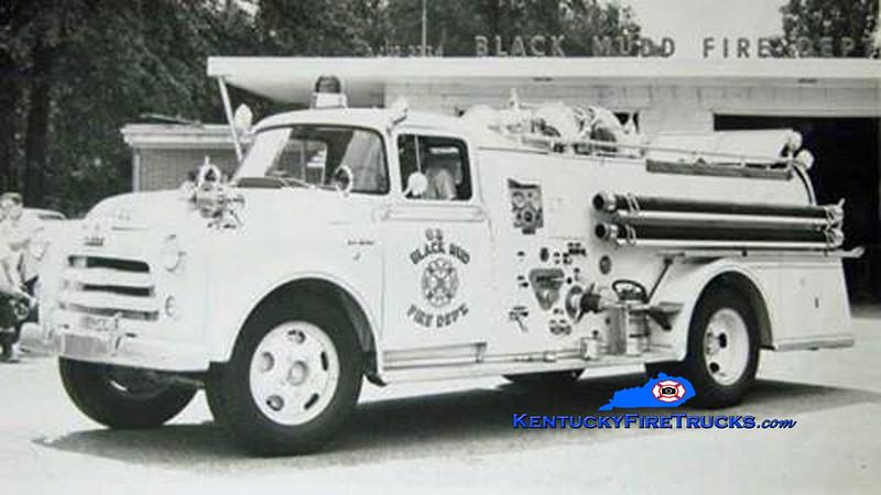 RETIRED<br /> Black Mudd Engine 63<br /> 1956 Dodge/Oren 500/500<br /> Kent Parrish collection