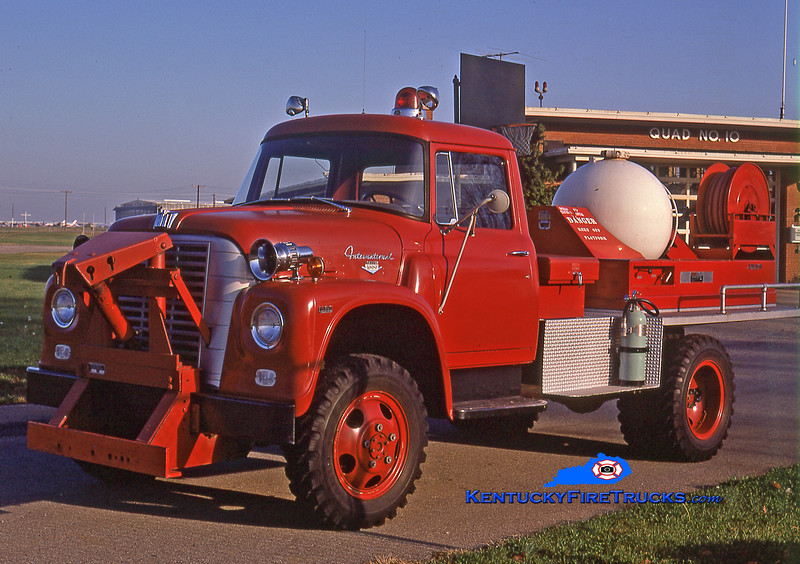 RETIRED<br /> Louisville Regional Airport Authority - Bowman Field Rescue 46<br /> 1961 International Loadstar 4x4/Fire Boss <br /> Kent Parrish collection