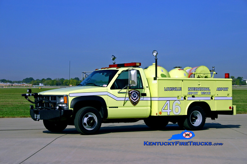 Louisville Regional Airport Authority - Bowman Field  Rescue 46<br /> x-Rescue 44 (at Louisville International Airport)<br /> 1998 Chevy 3500 4x4/Reading Twin-Agent <br /> Kent Parrish photo