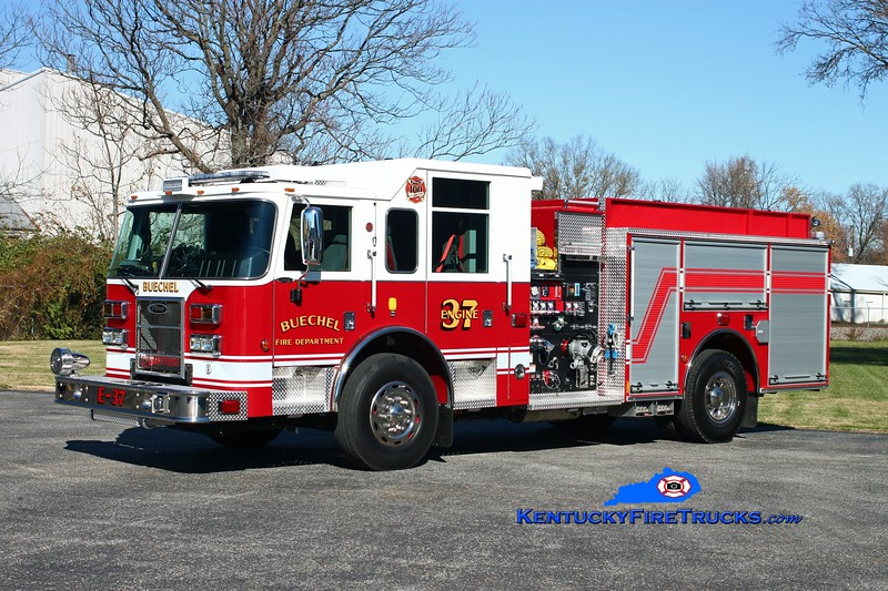 <center> Buechel  Engine 3737 <br> 2013 Pierce Saber 1500/750/30 <br> Kent Parrish photo <center>