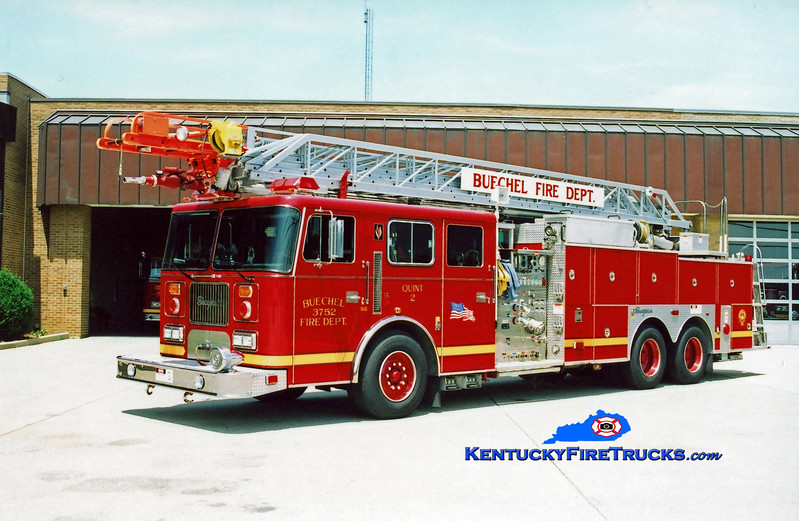<center> Buechel  Quint 3752 <br> 1997 Seagrave JP 1500/400/100' <br> Kent Parrish photo <center>