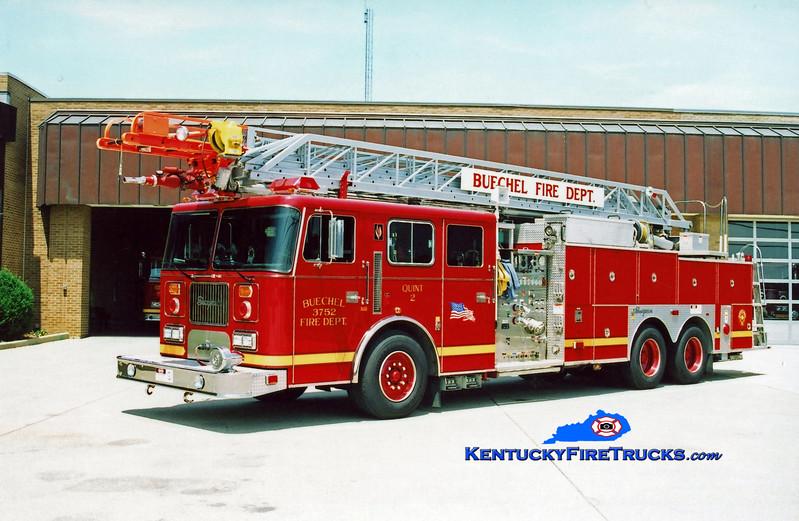 <center> Buechel  Quint 3752 <br> 1997 Seagrave JP 1500/400/100' <br> Kent Parrish photo <center>