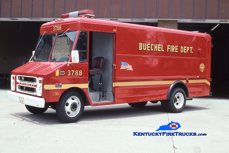 RETIRED <br /> Buechel Rescue 3788<br /> 1981 Chevy C30 Step Van<br /> Kent Parrish collection