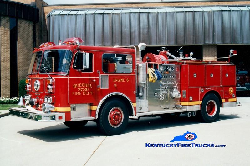 <center> RETIRED <br> ORIGINAL <br> Buechel  Engine 3736 <br> 1985 Seagrave 1500/500 <br> Greg Stapleton photo <center>
