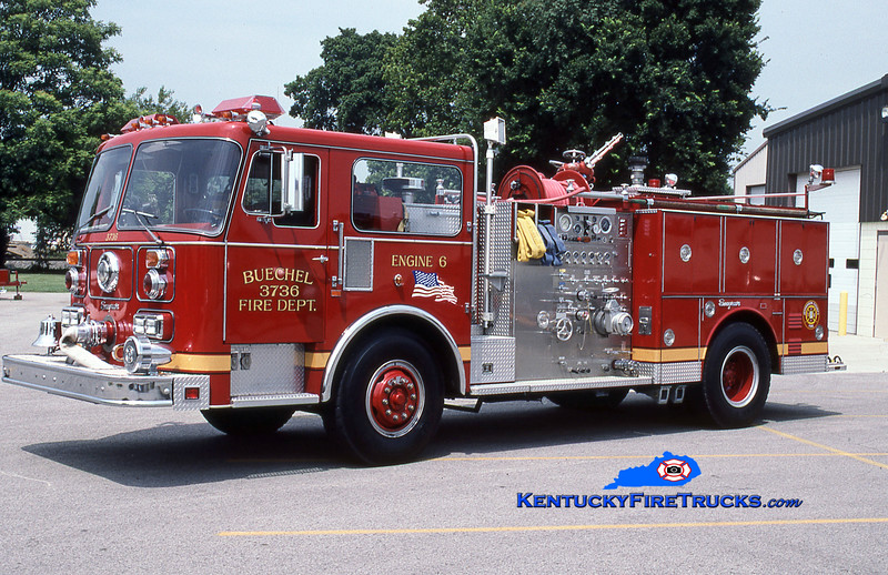 RETIRED<br /> Buechel Engine 3736<br /> 1985 Seagrave 1500/500<br /> Kent Parrish collection