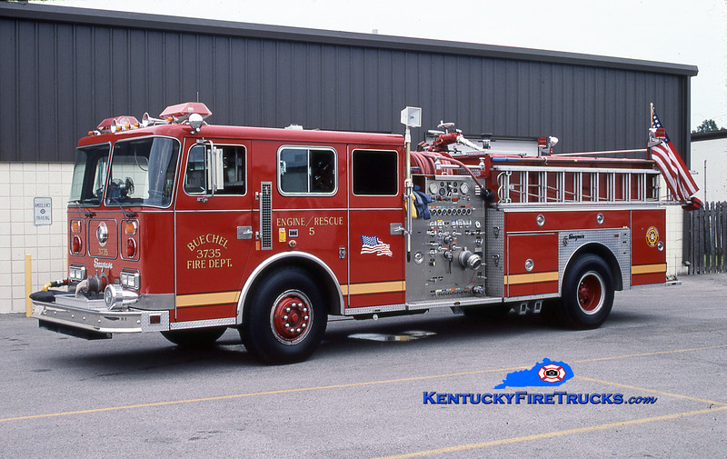 PRIVATELY OWNED<br /> Buechel Engine 3735<br /> 1988 Seagrave JB 1500/750<br /> Kent Parrish collection