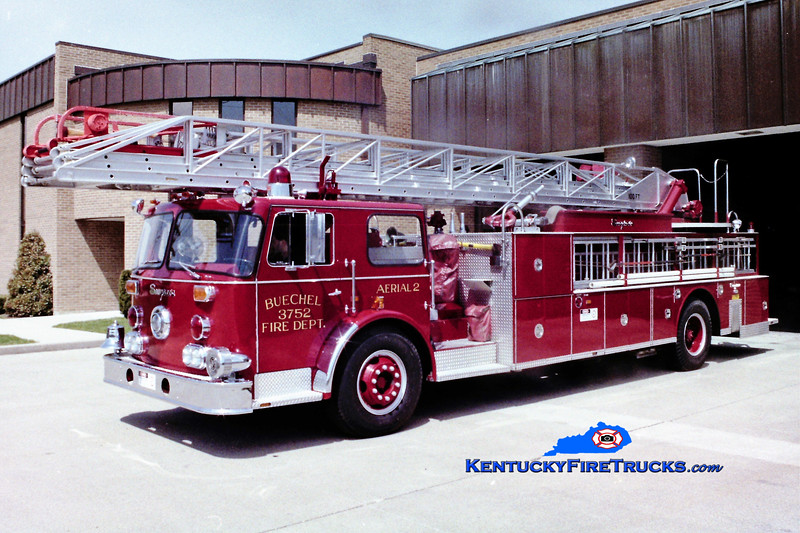 RETIRED <br /> Buechel Truck 3752<br /> x-New York City<br /> 1971 Seagrave/1983 Summit 100'<br /> Greg Stapleton photo