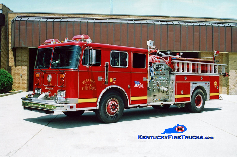 <center> RETIRED <br> Buechel  Engine 3735 <br> 1988 Seagrave JB 1500/750 <br> Kent Parrish photo <center>