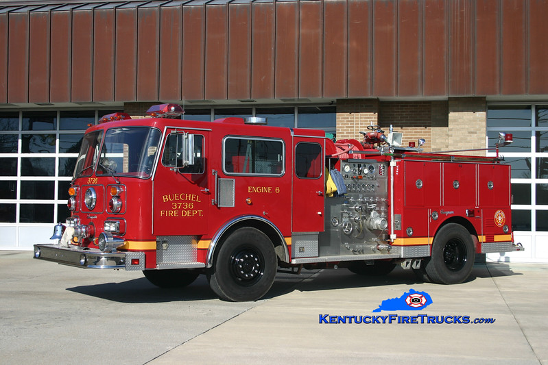 <center> RETIRED <br> REFURBISHED <br> Buechel  Engine 3736 <br> 1985/2005 Seagrave 1500/500 <br> Kent Parrish photo <center>