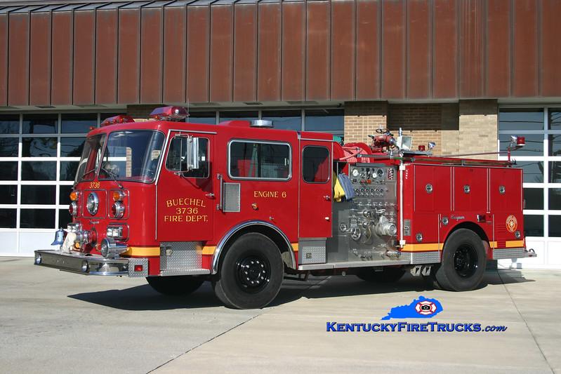 <center> RETIRED <br> REFURBISHED <br> Buechel  Engine 3736 <br> 1985/2005 Seagrave 1500/500 <br> Kent Parrish photo <center>