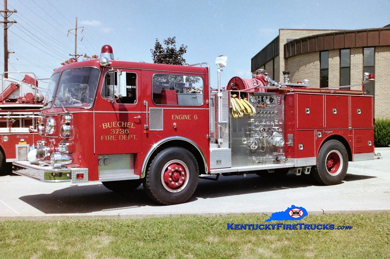 RETIRED<br /> Buechel Engine 3736<br /> 1985/2005 Seagrave 1500/500<br /> Greg Stapleton photo