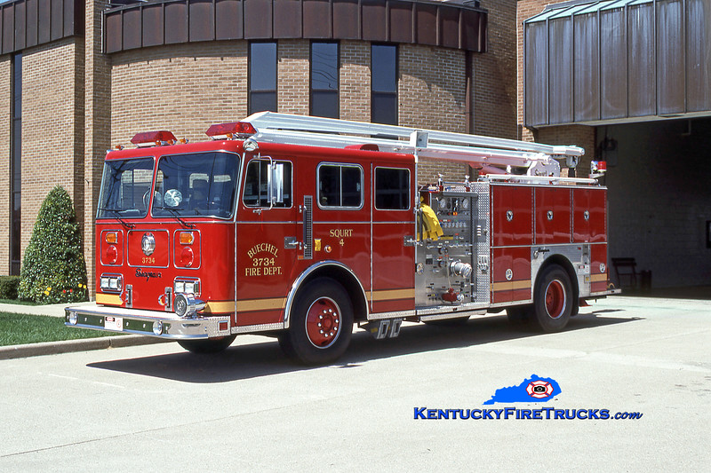 RETIRED<br /> Buechel Squrt 3734<br /> 1991 Seagrave JB 1500/500/54' Squrt<br /> Kent Parrish collection