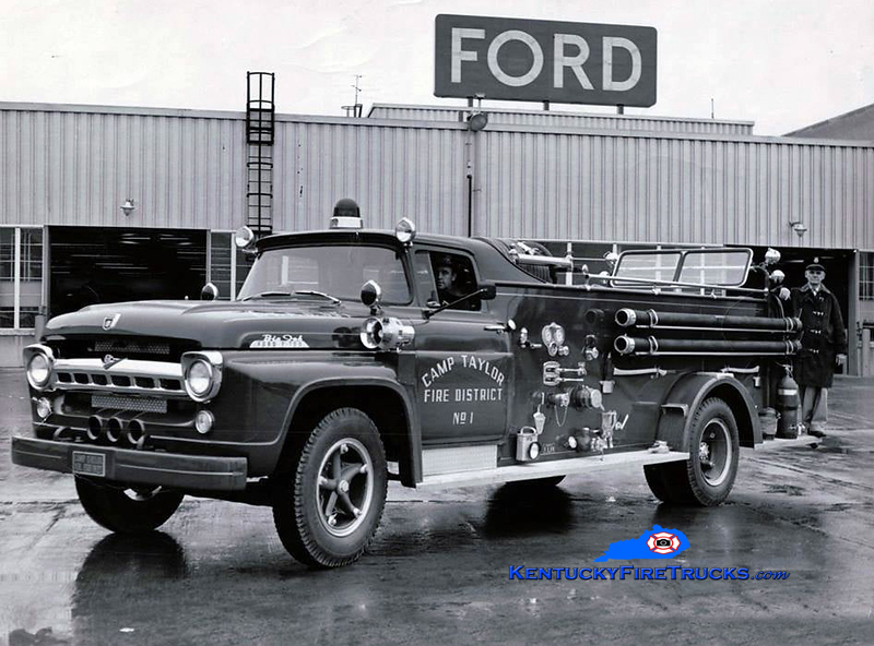 RETIRED<br /> Camp Taylor Engine 1 <br /> 1957 Ford F/American<br /> Kent Parrish collection