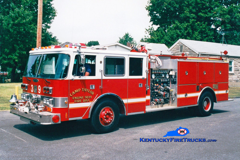 <center> RETIRED <br> Camp Taylor Engine 5039 <br> 1989 Pierce Arrow/1978 Grumman-Oren 1250/750 <br> Greg Stapleton photo </center>