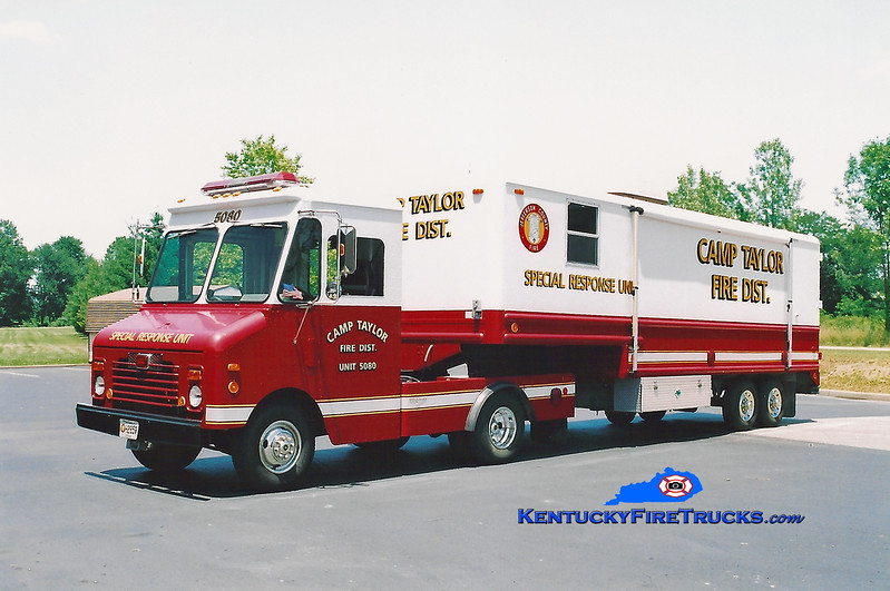 <center> RETIRED <br> Camp Taylor Support 5080 <br> x-Frito Lay <br> 1983 Chevy Grumman-Olson <br> Kent Parrish photo </center>