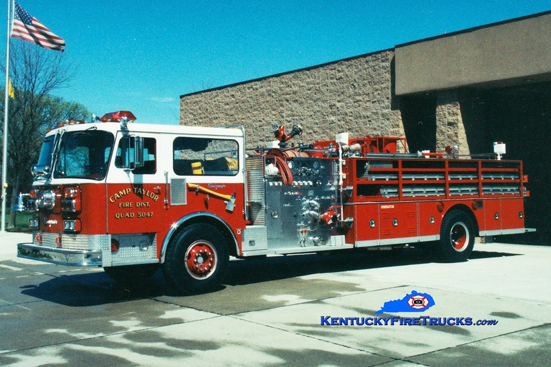 <center> RETIRED <br> Camp Taylor  Quad 5047 <br> x-Chattanooga, TN <br> 1982 Seagrave HB 1250/500 <br> Greg Stapleton photo </center>