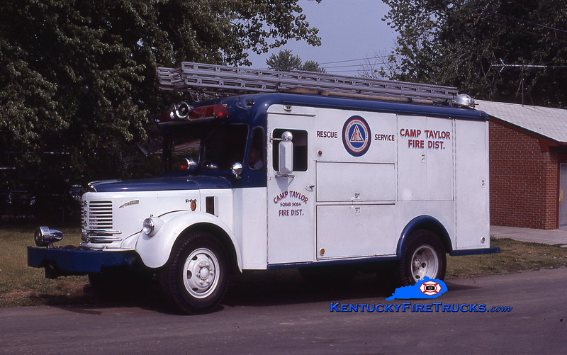 RETIRED<br /> Camp Taylor Squad 5084<br /> x-Civil Defense, Louisville FD, KY <br /> 1953 Reo Comet/Boyertown<br /> Kent Parrish collection