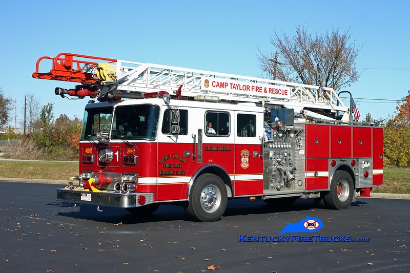<center> Camp Taylor  Quint 5051 <br> 1997 Seagrave JB 1500/500/75'  <br> Kent Parrish photo </center>
