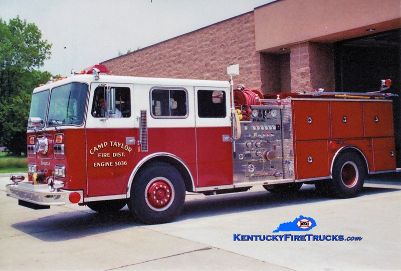RETIRED<br /> Camp Taylor  Engine 5036<br /> 1988 Seagrave JB 1500/750<br /> Greg Stapleton photo