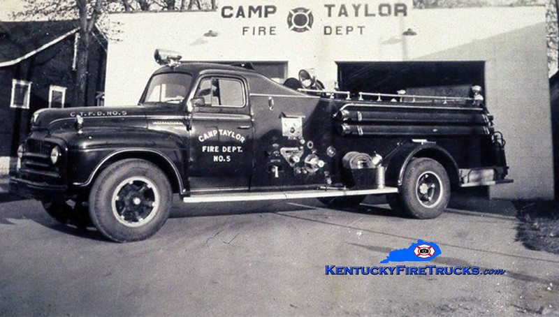 RETIRED<br /> Camp Taylor Engine 5 <br /> 1953 International L/Howe 500/500<br /> Kent Parrish collection